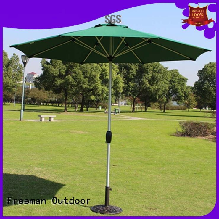 Freeman Outdoor printed giant garden umbrella sensing for camping