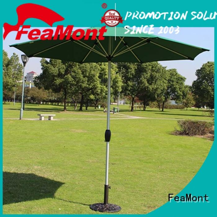 FeaMont stable patio umbrella production for event