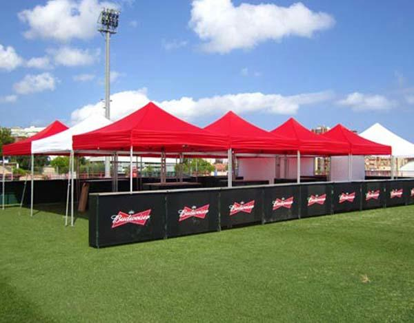 Red gazebo canopy tent
