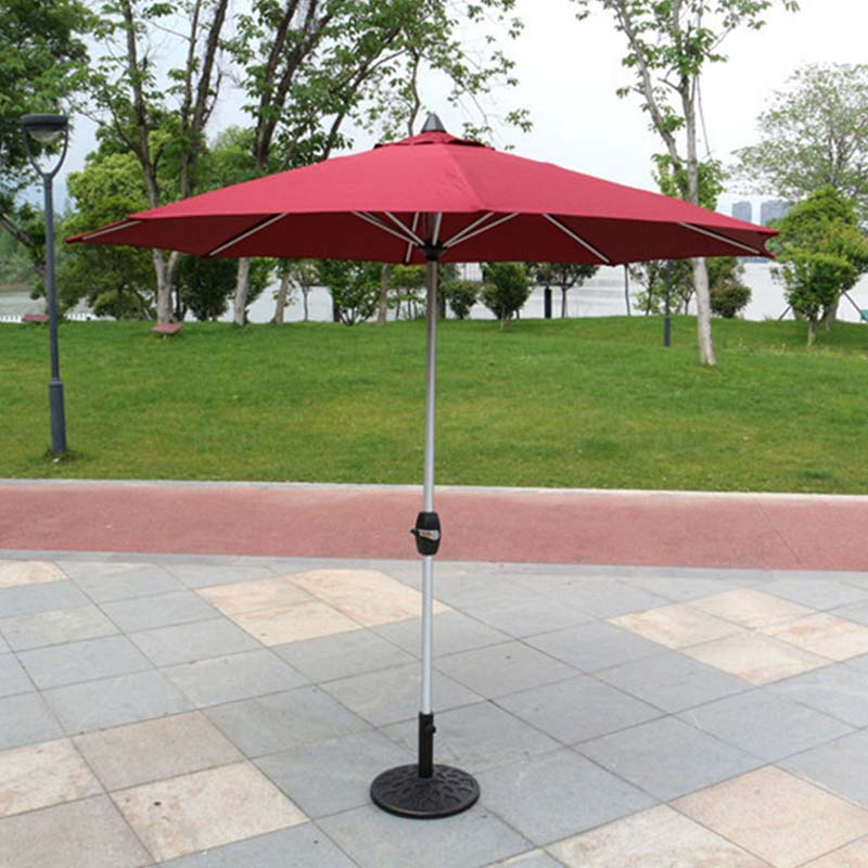 newly grey garden umbrella base production in street-2