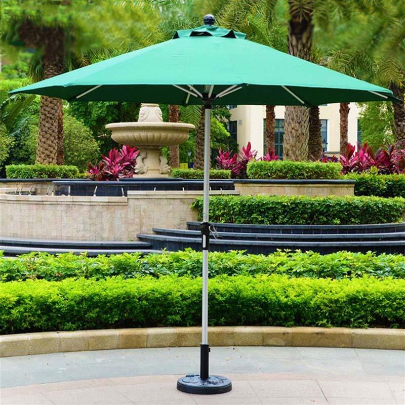 Aluminum hand cranking green Garden umbrella