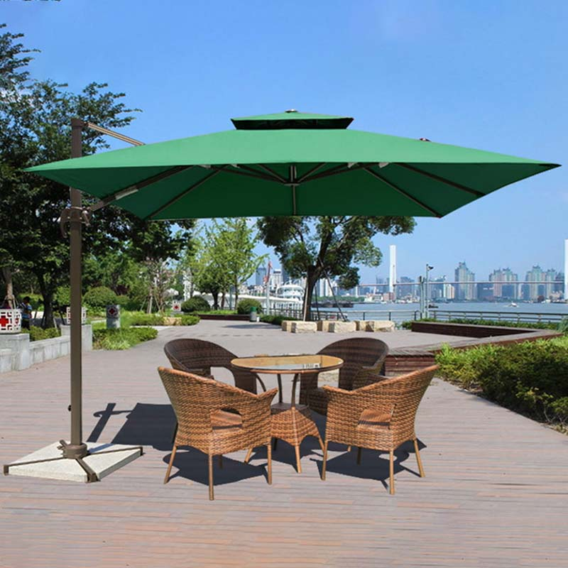 double-top red garden umbrella sensing for disaster Relief FeaMont-3