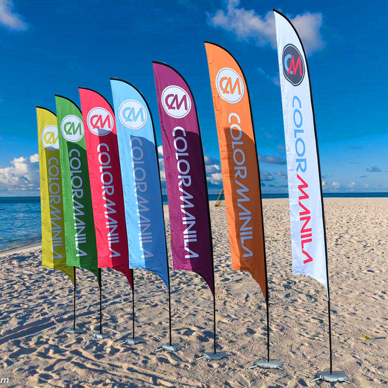 Outdoor Printed Advertising Feather Beach Flag