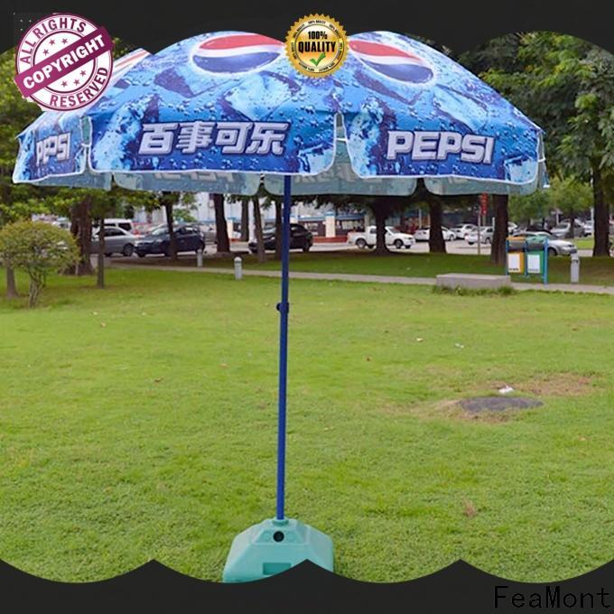comfortable red beach umbrella top marketing for advertising