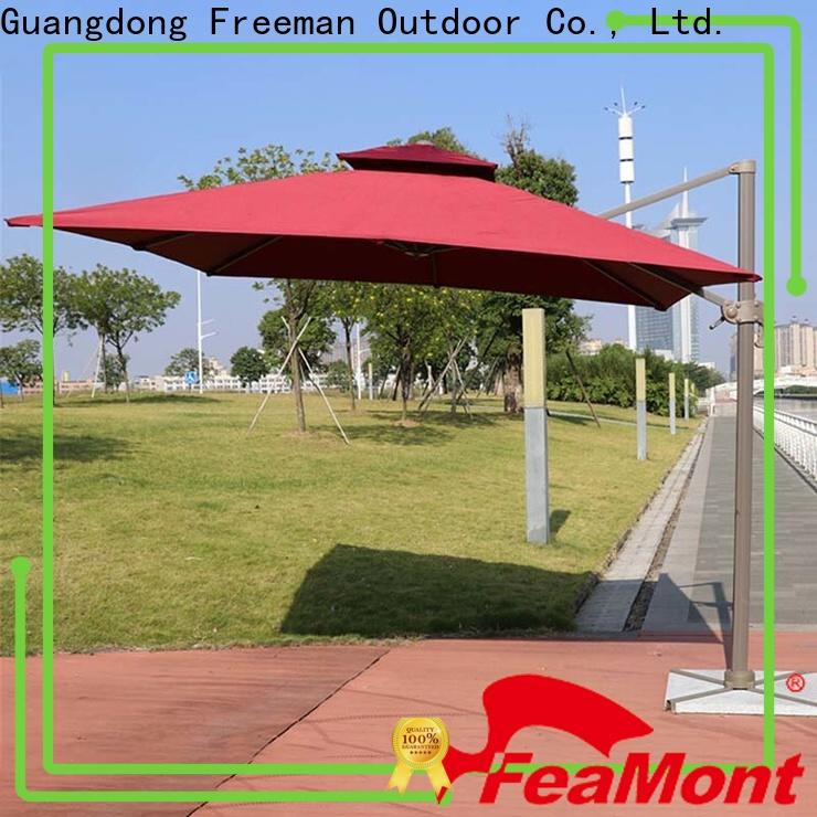 FeaMont doubletop white garden umbrella in different shape for sporting