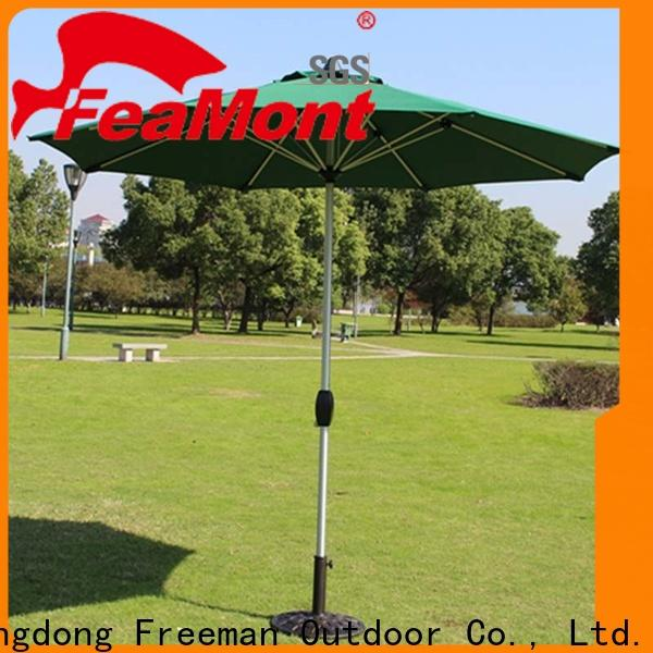 FeaMont printed sun garden umbrella solutions for disaster Relief