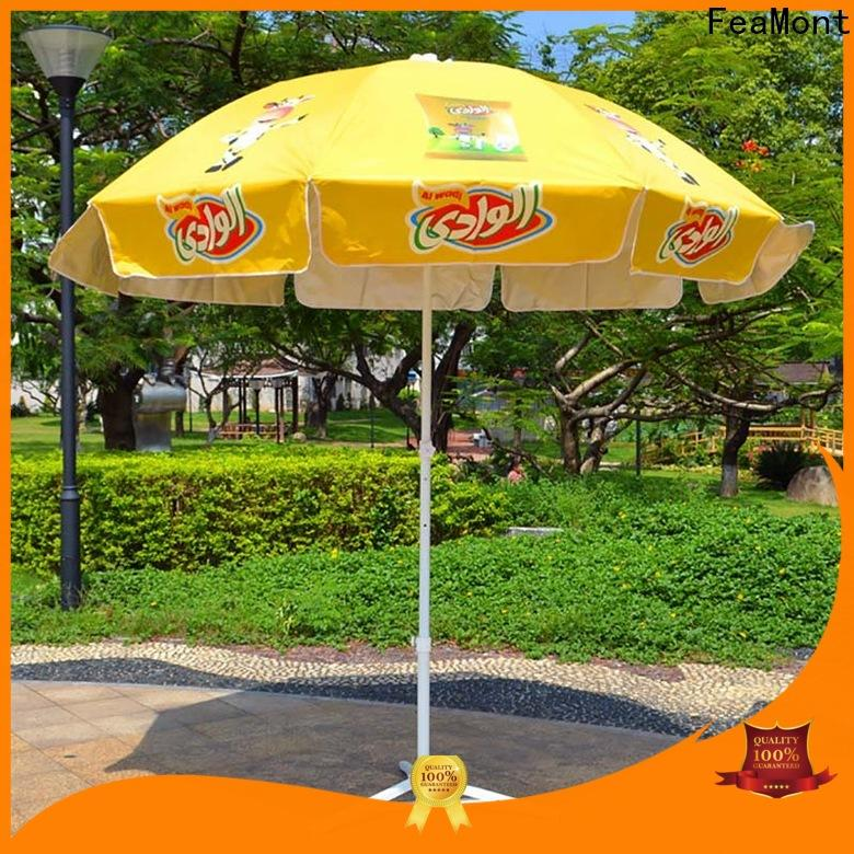 FeaMont top red beach umbrella China for disaster Relief