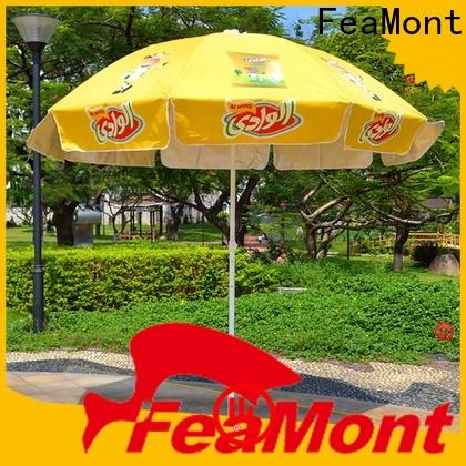 FeaMont printing black and white beach umbrella popular for advertising