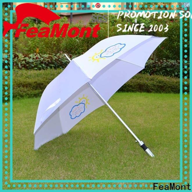 FeaMont promotion canvas umbrella application for exhibition
