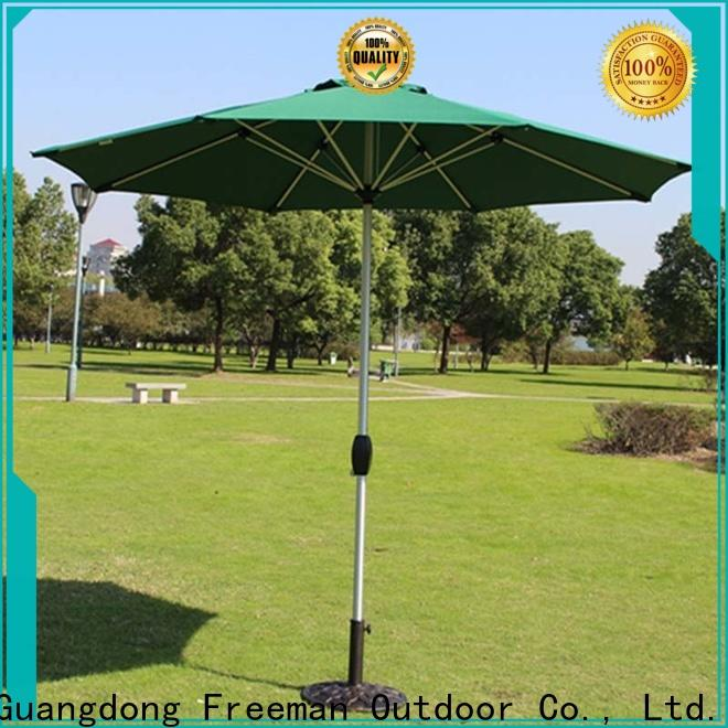 FeaMont reliable white garden umbrella package in street