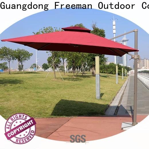 splendid square garden umbrella aluminum package for exhibition
