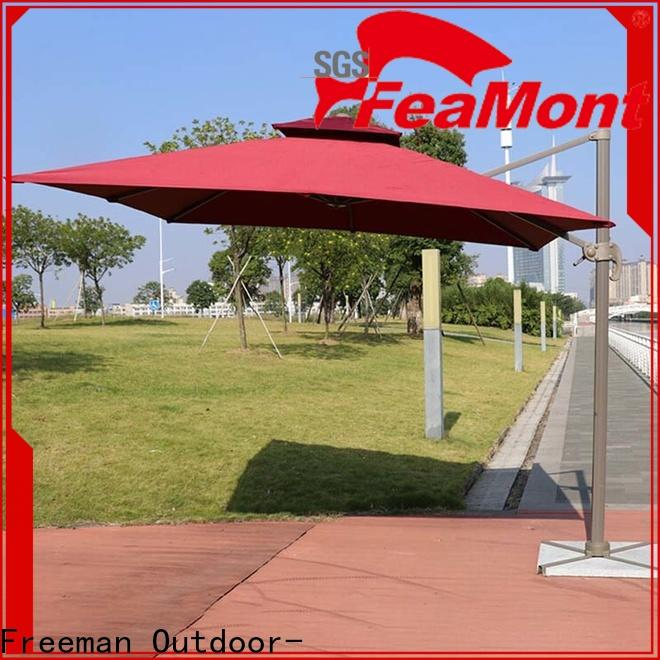 FeaMont aluminum white garden umbrella package for sports