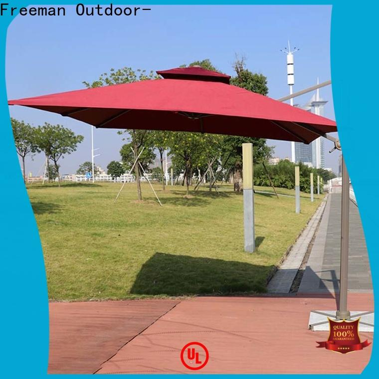 FeaMont colorfastness white garden umbrella production for advertising