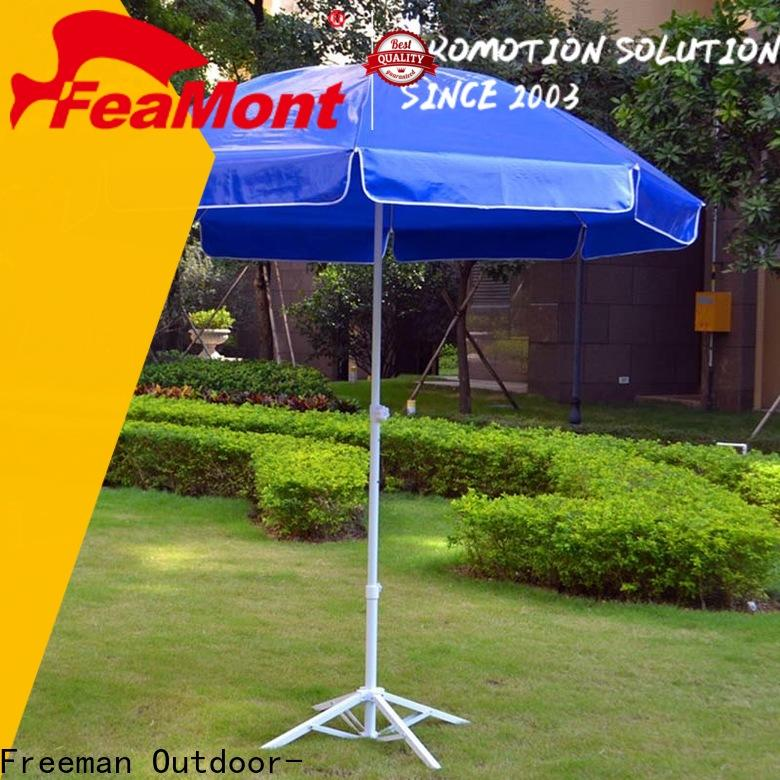 FeaMont advertising heavy duty beach umbrella owner