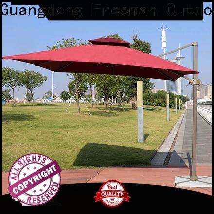 FeaMont double-top patio umbrella for trade show