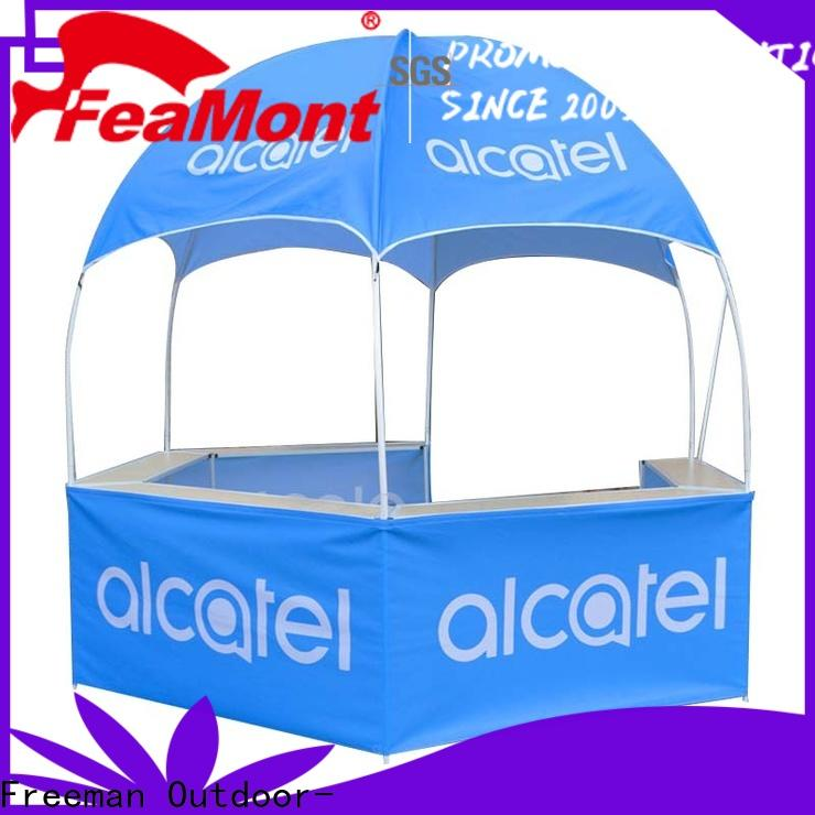 FeaMont advanced dome kiosk production for trade show