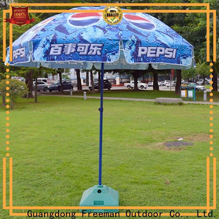 FeaMont comfortable large beach umbrella effectively
