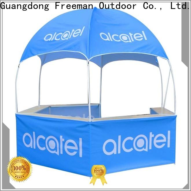 FeaMont hexagonal dome kiosk sensing for trade show