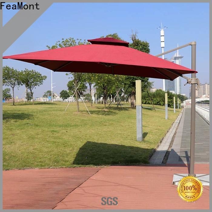 printed grey garden umbrella aluminum solutions for trade show