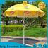 FeaMont industry-leading black and white beach umbrella type for disaster Relief