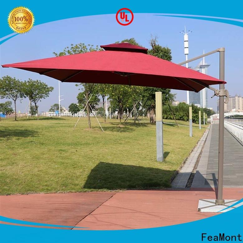 FeaMont double-top outdoor umbrella wholesale for exhibition