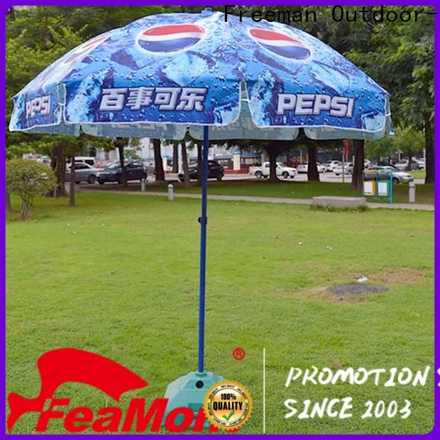 FeaMont hot-sale black and white beach umbrella widely-use for exhibition