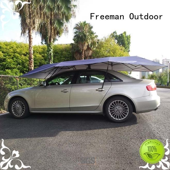 FeaMont fiberglass auto umbrella widely-use for outdoor exhibition