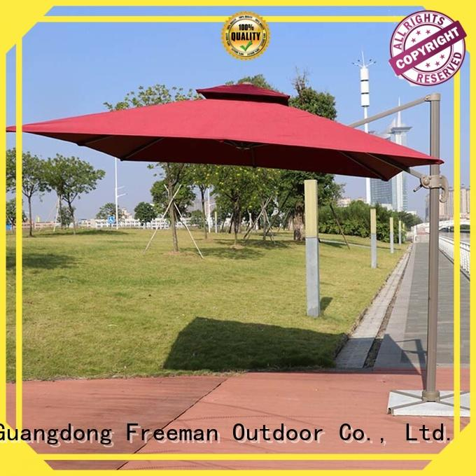 double-top red garden umbrella sensing for disaster Relief FeaMont