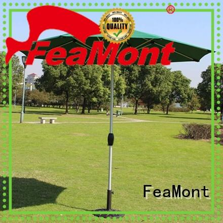 FeaMont square garden umbrella package for trade show