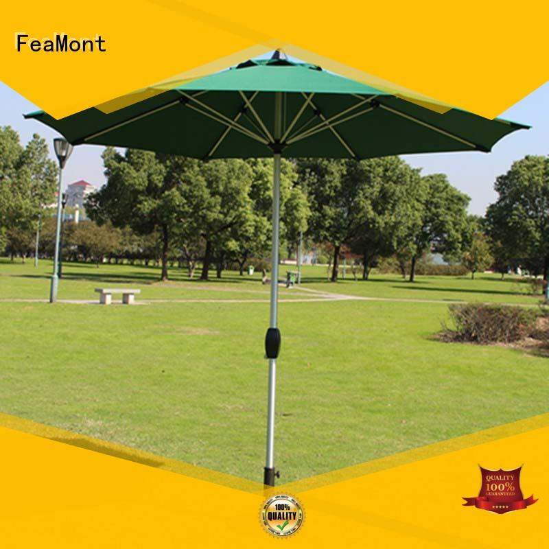 FeaMont green garden umbrella in different shape for outdoor exhibition