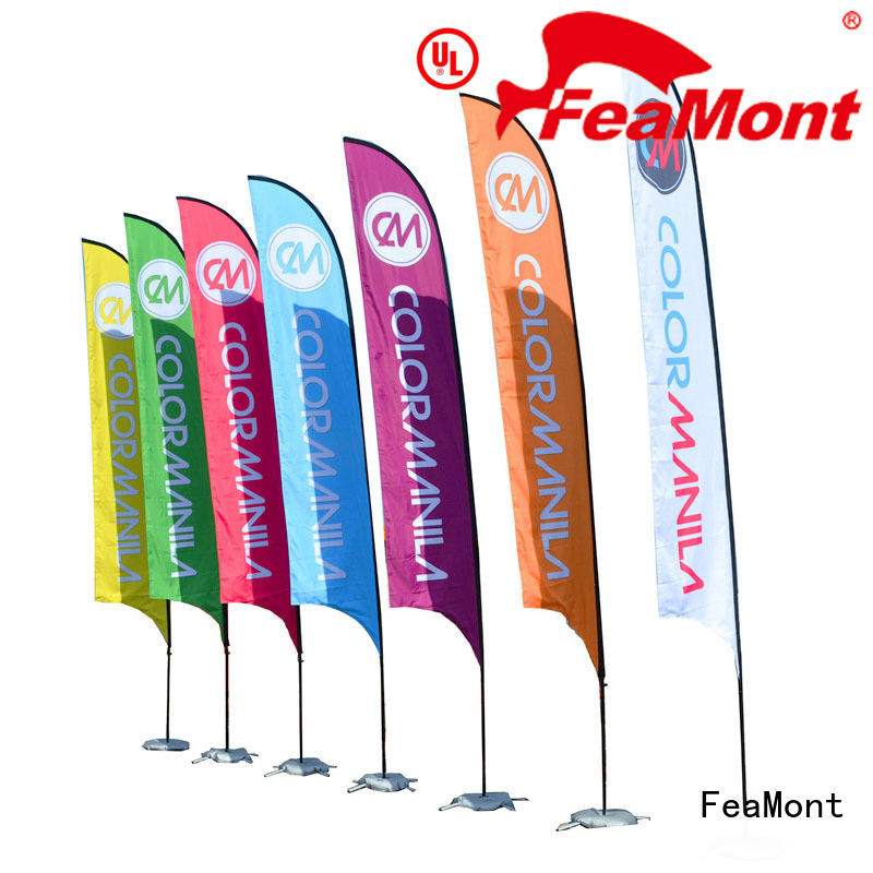 promotional flag advertising for sport events FeaMont