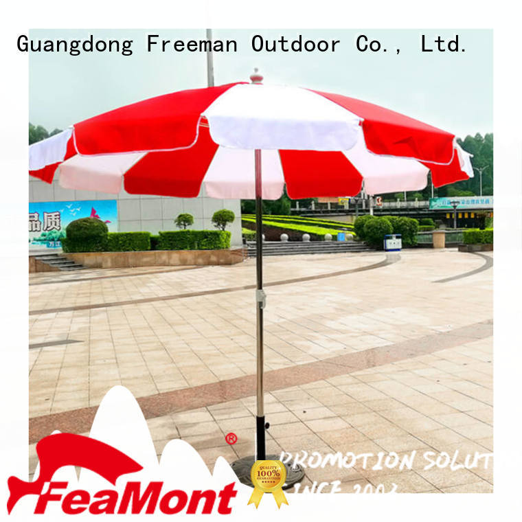 FeaMont waterproof foldable beach umbrella owner for advertising