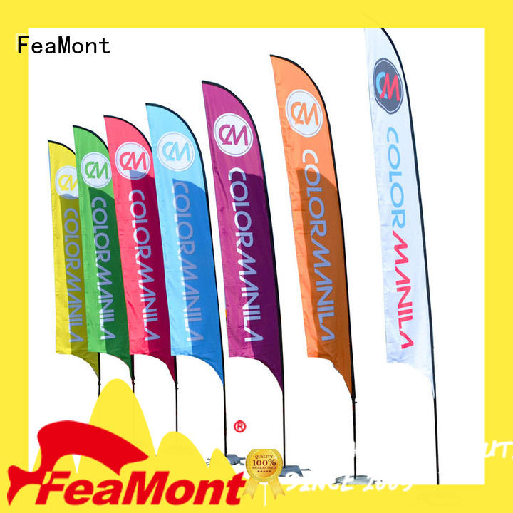 FeaMont feather advertising flag type in street