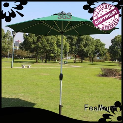 FeaMont grey garden umbrella for-sale in street