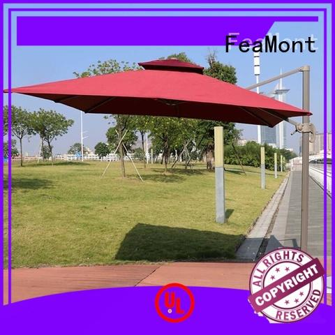 FeaMont cranking square garden umbrella for-sale for exhibition