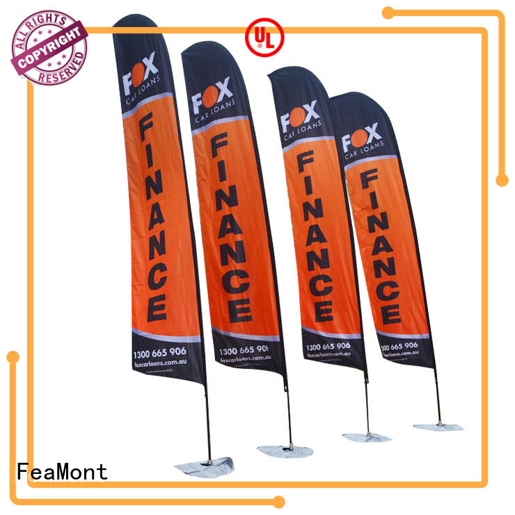 FeaMont flag printing marketing for outdoor exhibition