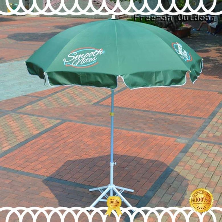 FeaMont printing black and white beach umbrella marketing in street