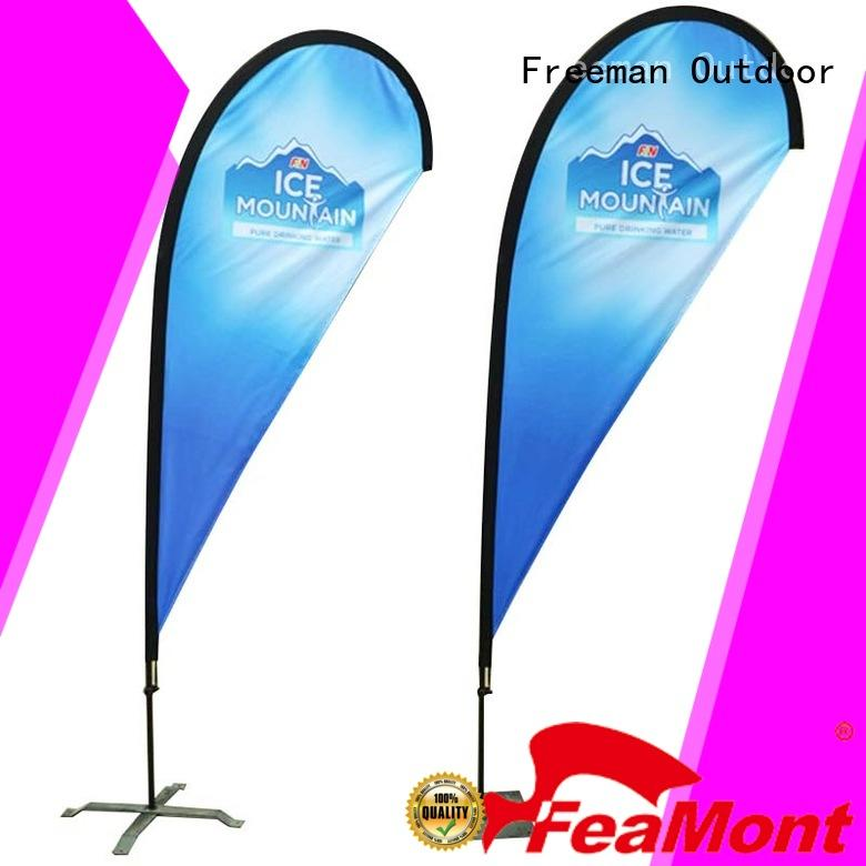 stable flag printing fiberglass in different shape for sport events