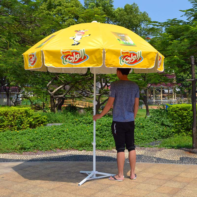 FeaMont printing red beach umbrella China-1