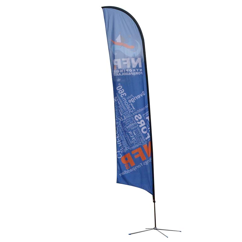 printed beach flag banners certifications for outdoor activities FeaMont-1