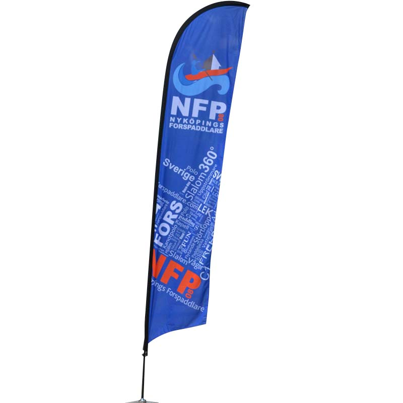 customized advertising flag feather in different color for engineering-3
