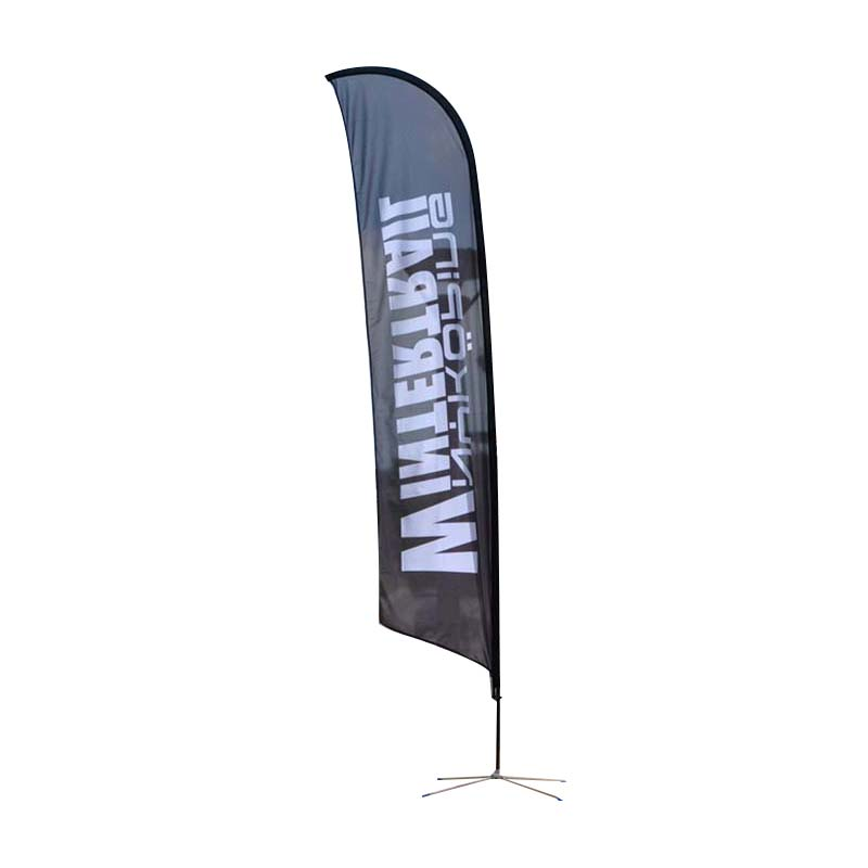 customized advertising flag feather in different color for engineering-2