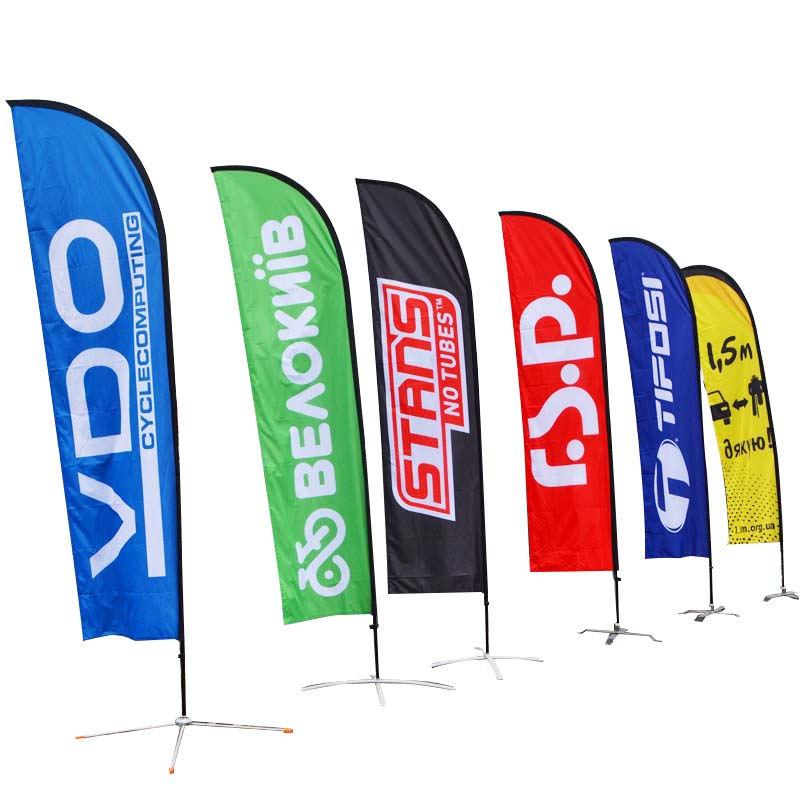 flag banners feather in different color for sports-1
