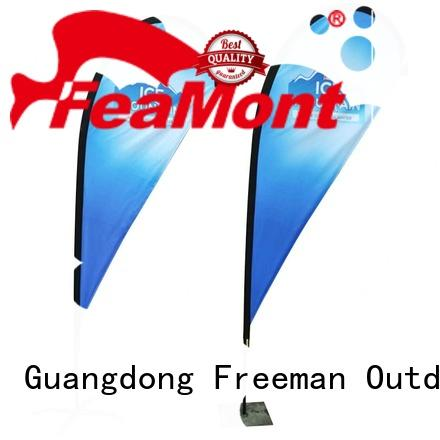 FeaMont palette advertising feather flags marketing in street