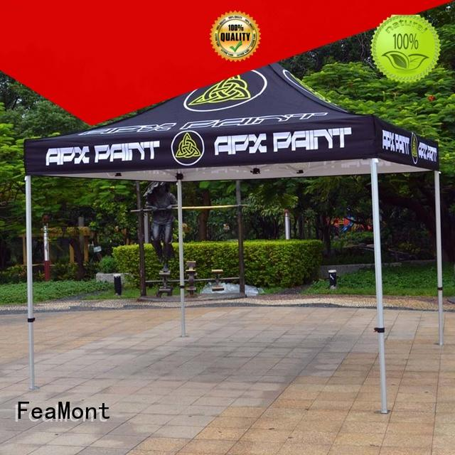 FeaMont printed display tent production for sport events