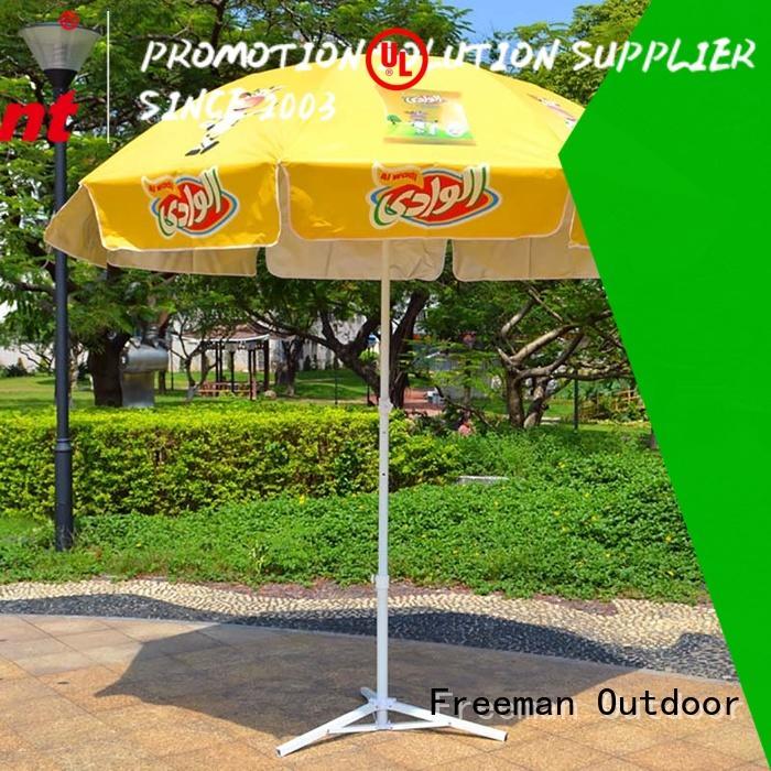 inexpensive best beach umbrella advertising type in street