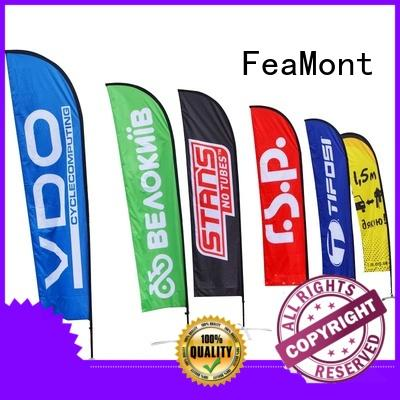 FeaMont affirmative feather flag printed for trade show