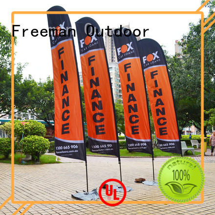 palette beach flag design wind-force for advertising Freeman Outdoor