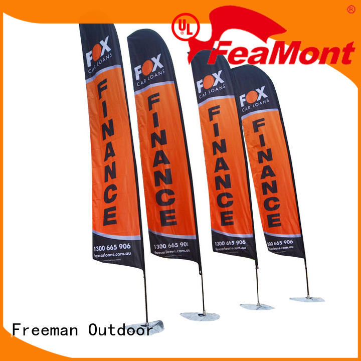 printed beach flag banners advertising price for outdoor activities