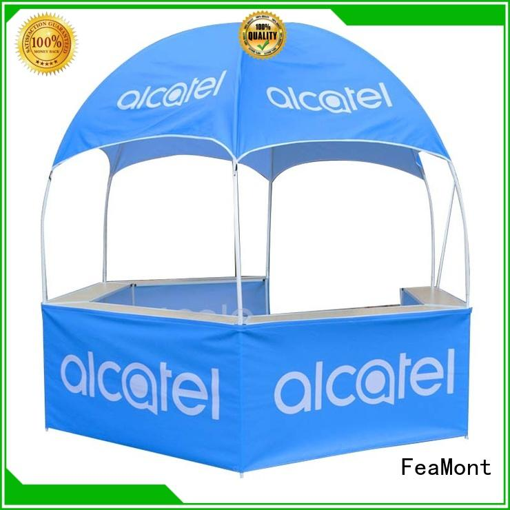 FeaMont hexagonal dome kiosk in-green for engineering